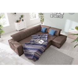 Corner sofa right convertible USHUAIA with storage