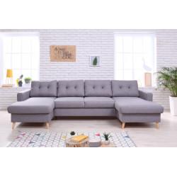 Sofa narożna cofania & cabrio BAYA