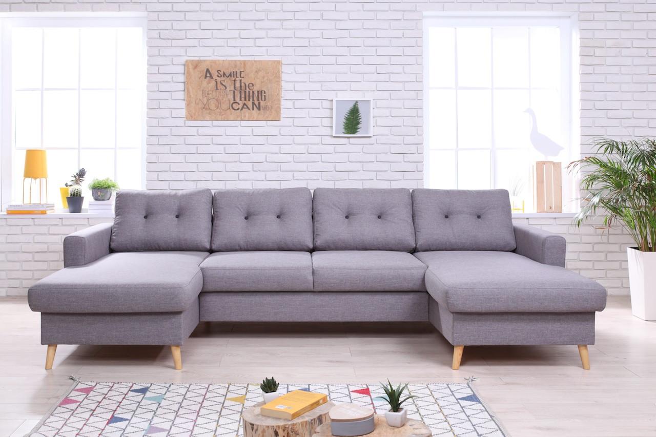 Canapé d'angle réversible & convertible BAYA