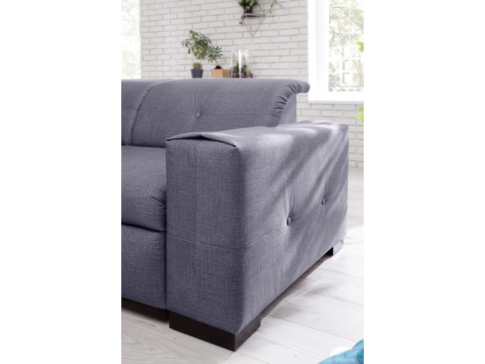 Canapé 3 places d'angle fixe CLEA